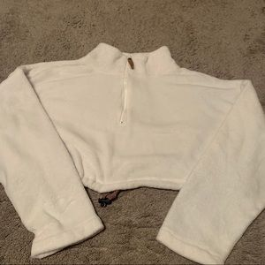 Urban outfitters cropped quarter zip
